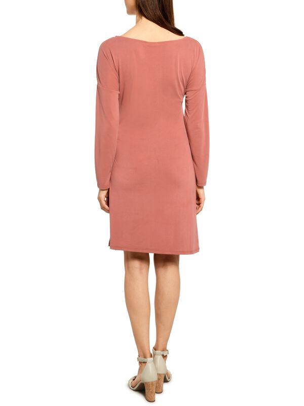 Vila Knot Dress 7/8 koralle | Dress-for-less