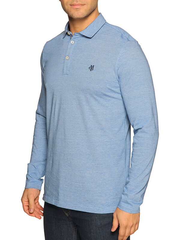 Slim-Fit Long-Sleeved Polo