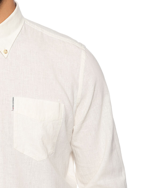 Chemise Regular Fit à teneur en lin